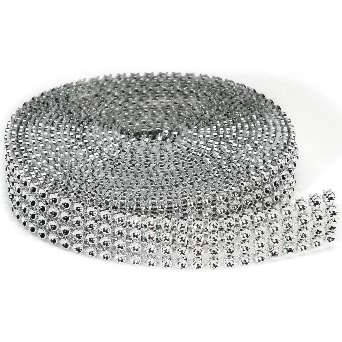 Bling On A Roll 3mmX3yd-4 Rows, Silver