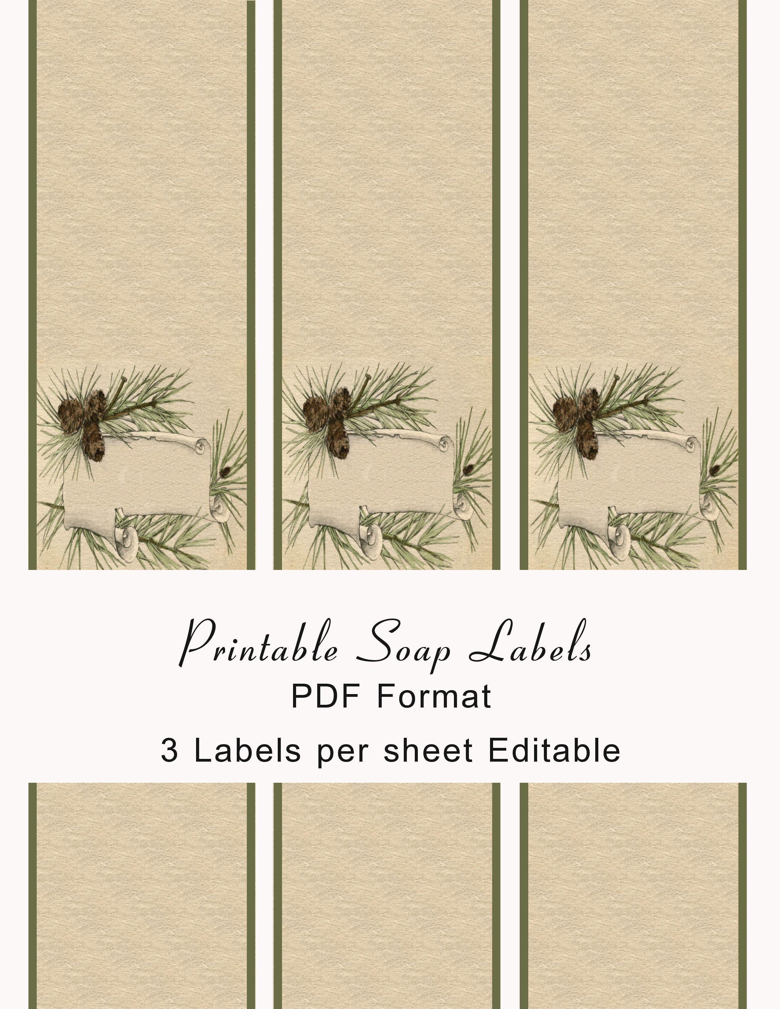Printable Soap Labels | Soaps | Soap labels, Diy soap labels