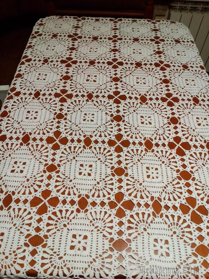 Square Tablecloth Motif Lace Free Crochet Pattern Free