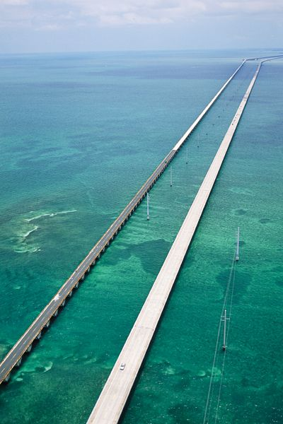 7-Mile Bridge Key West Fl been down that road many times but never seen a picture like that!! That's incredible & scary at the same exact time - look at what we cross to get to the keys WOW!!! I really liked driving it. August 2012