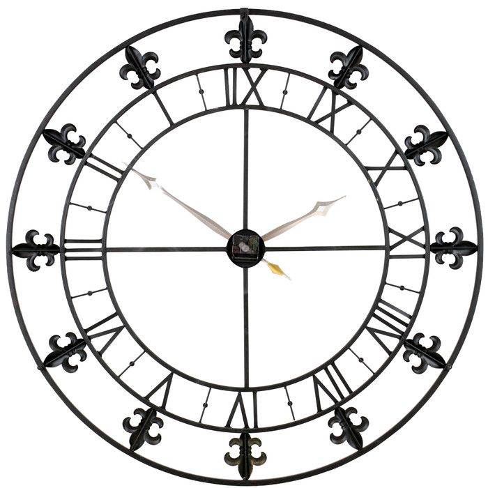 You Ll Love The Lexy Fleur De Lis Wall 2 Line Arch Address Plaque At Wayfair Great Deals On All Outdoor Products Wit Grey Wall Clocks Wall Clock Metal Clock