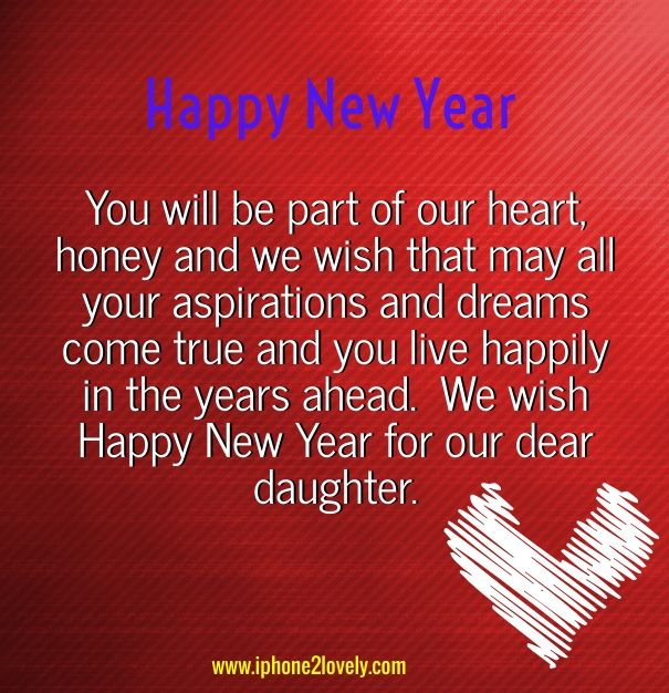happy new year wishes for daughter messages