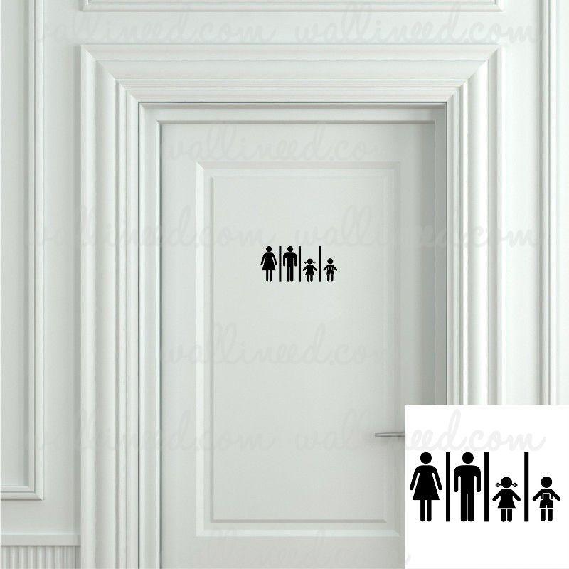 Door Stickers Bathroom Door Sign Bathroom Signs Toilet Sign