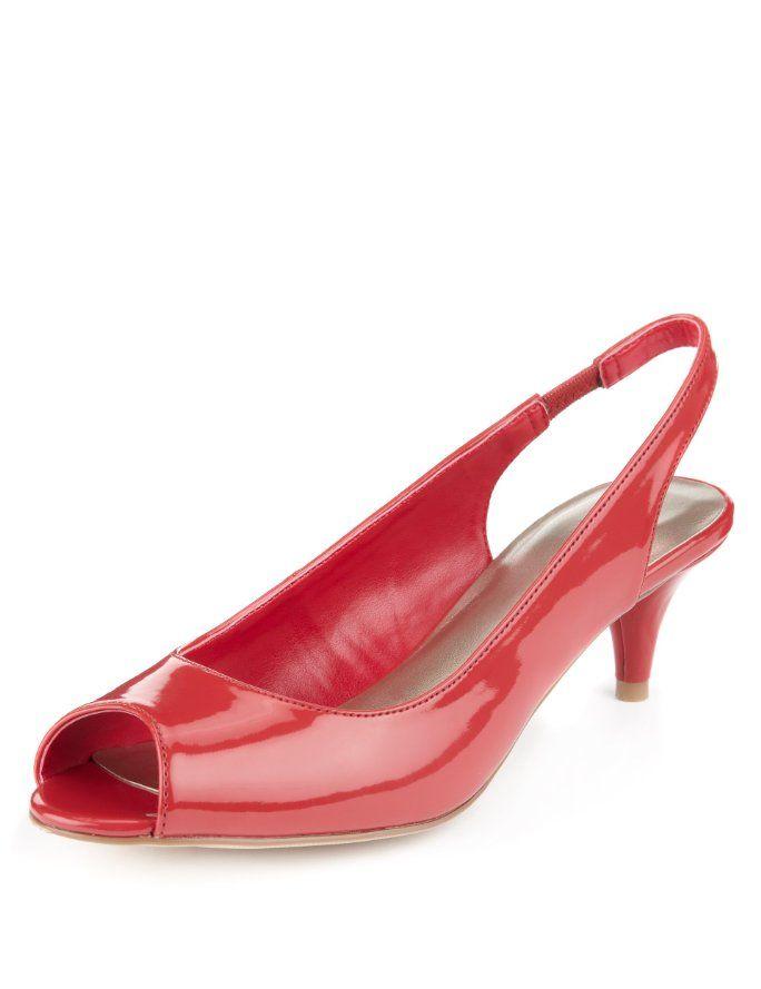 Peep Toe Slingback Shoes with Insolia