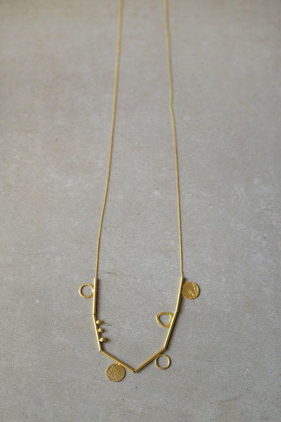 long golden element necklaceChristmas gift hand by StudioBALADI