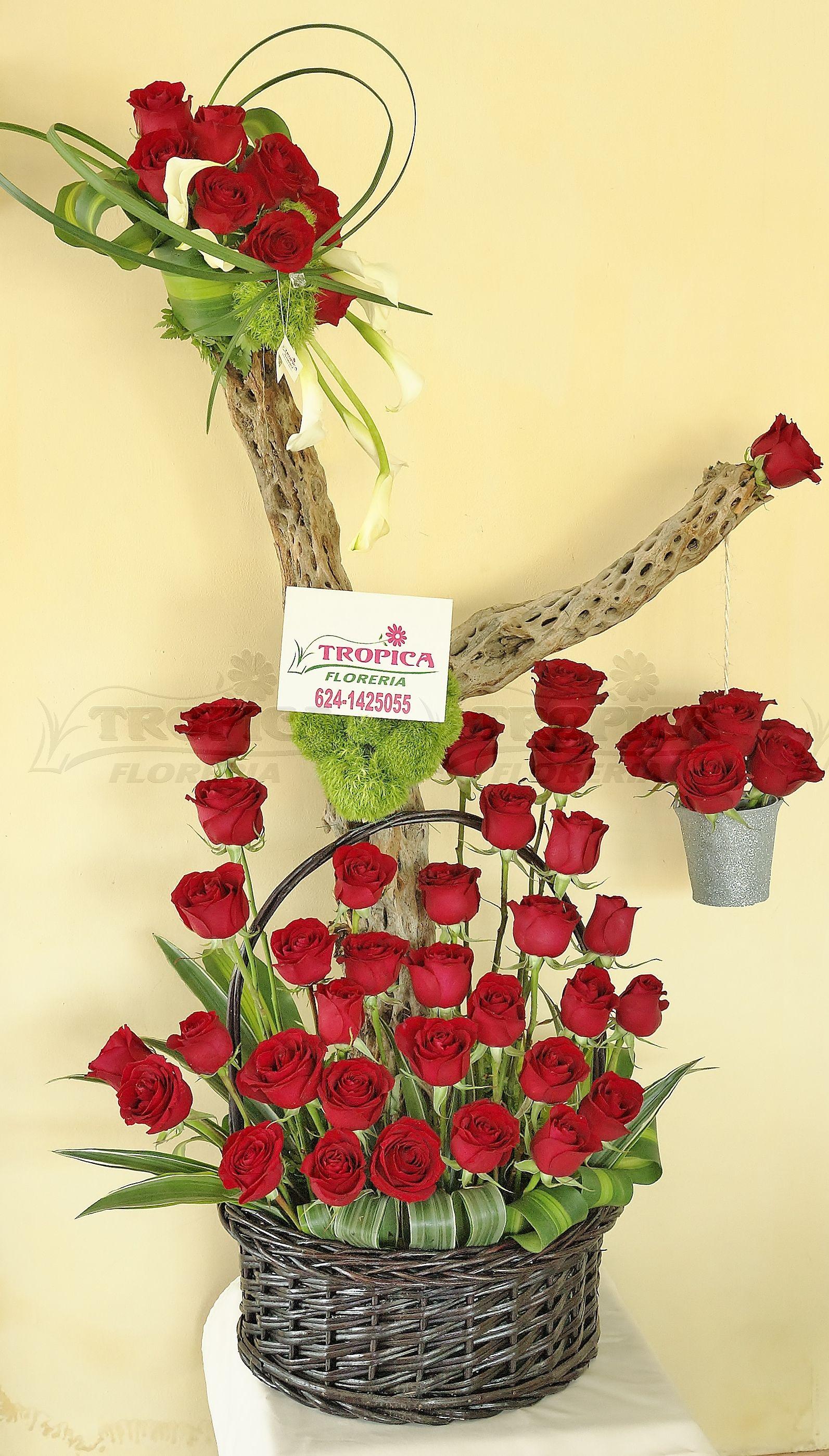 Arreglo De Rosas Tropica Floreria Arreglos Florales