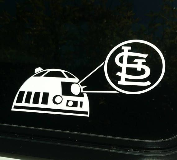 St louis star wars r2d2 die cut vinyl decal sticker cardinals saint shirt baseball team vehicle window vintage retro logo decal