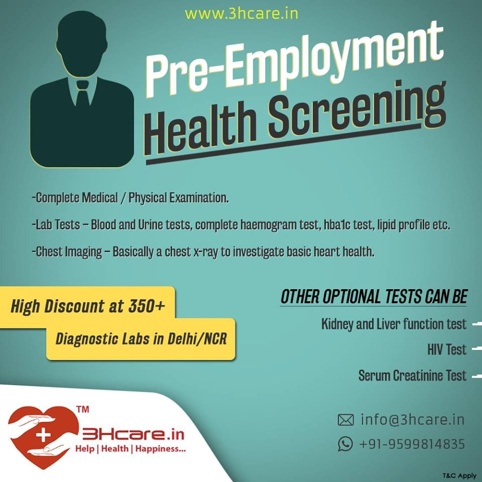 Why is preemployment checkup important? It is important