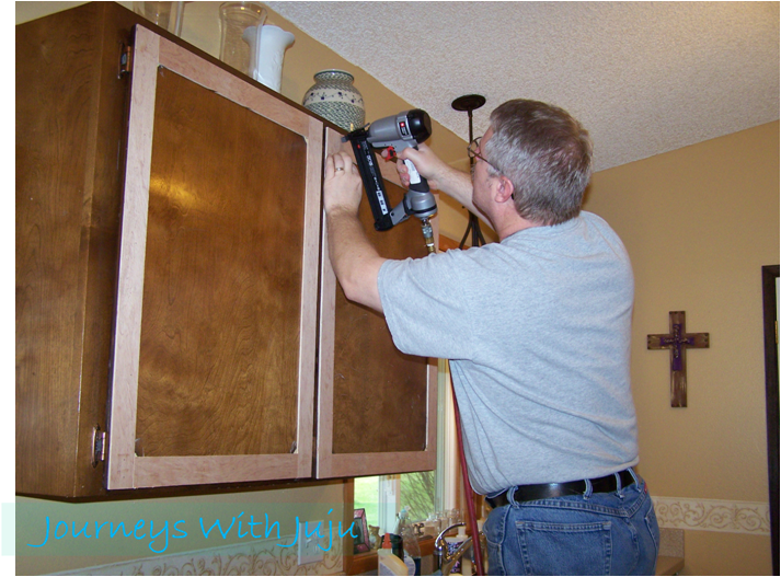 journeys with juju: kitchen cabinet facelift on a tiny budget