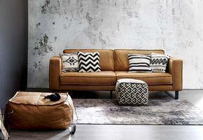 3 Zits Leren Bank Wit.Long Island 3 Zits Bank Leder Cognac Home Living Room Living