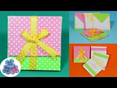 Como hacer regalos originales cajas diy scrap gifts - Como hacer tarjetas para regalar ...