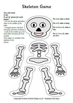 free skeleton game great for halloween - Esl Halloween Games
