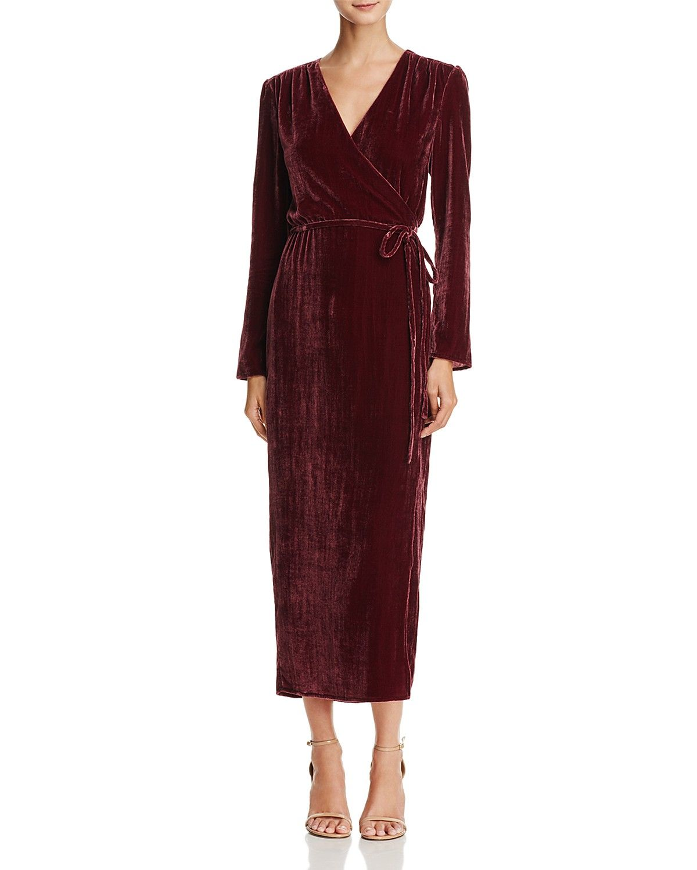 9378978d3f1a WAYF Cooper Velvet Wrap Maxi Dress