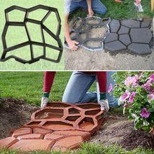 Caminho de fabricante de moldes de plástico 43.5*43.5 cm manualmente tijolo de cimento e pedra de pavimentação da estrada de concreto moldes DIY molde plástico para jardim(China (Mainland))