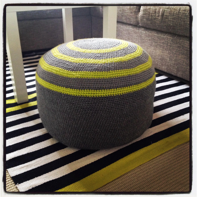 Homemade crochet pouf Hjemmelavet hæklet puf Crochet pattern by me ...