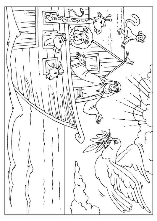 Coloring Page Noah S Ark Coloring Picture Noah S Ark Free