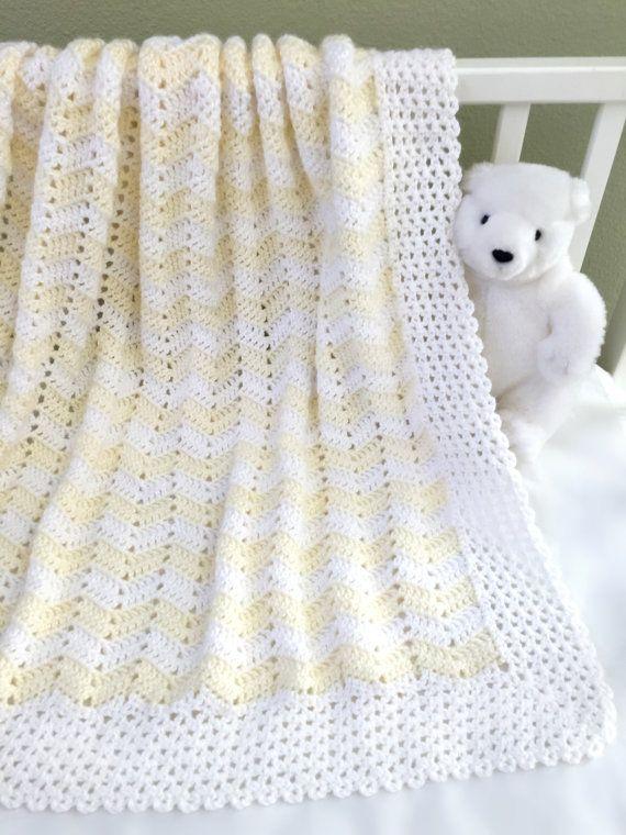 Crochet Baby Blanket Pattern Easy Ripple by DeborahOLearyPattern ...