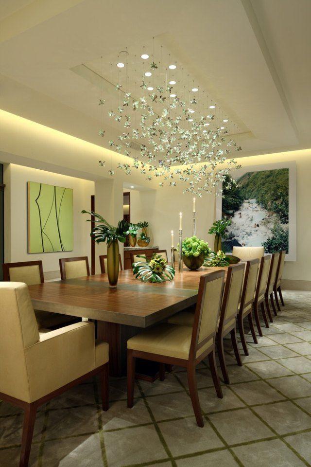 beleuchtung esszimmer abgehngte decke naturfarben  Wohnidee in 2019  Beleuchtung wohnzimmer