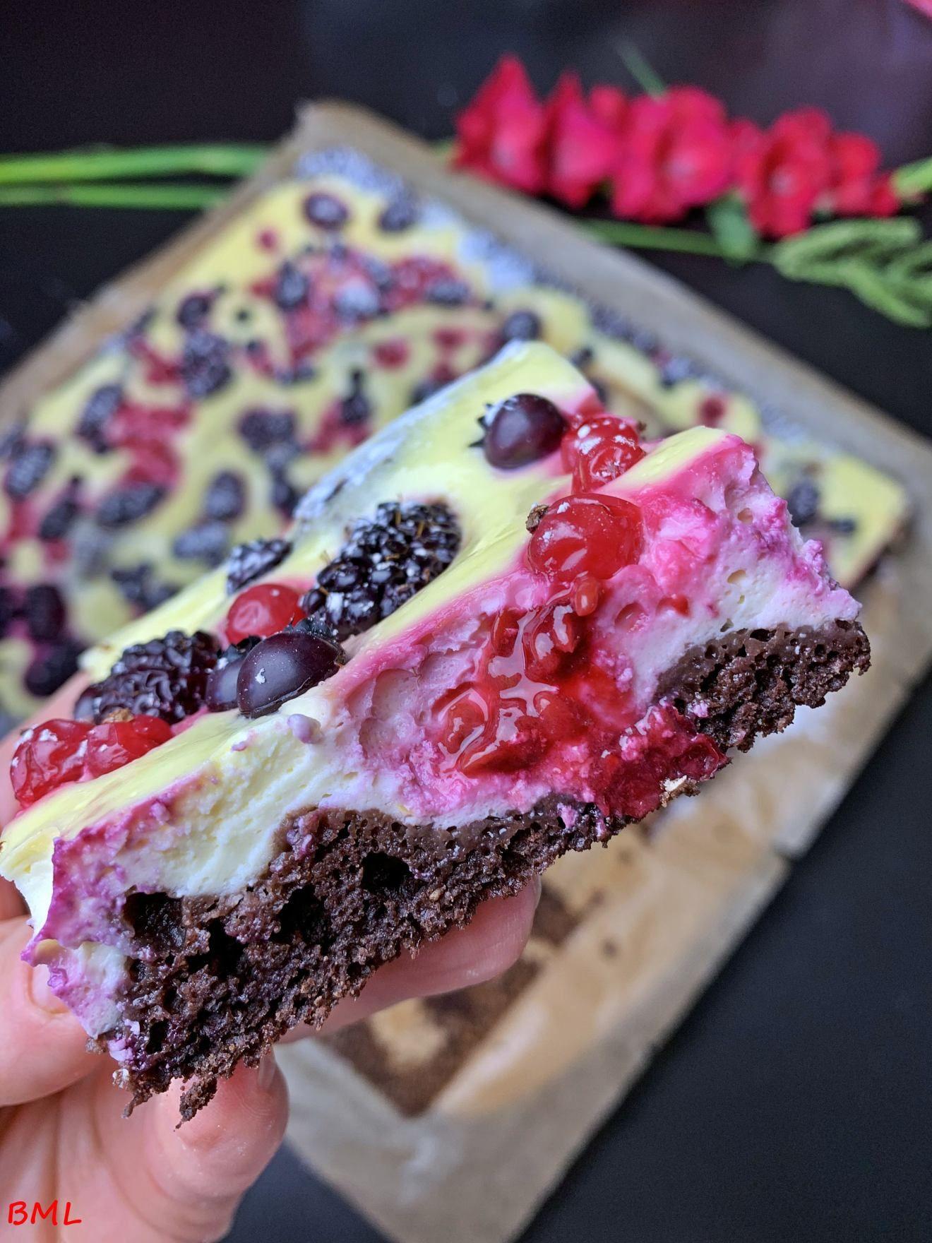 Tarta de queso con baya de chocolate … tan sabrosa y afrutada
