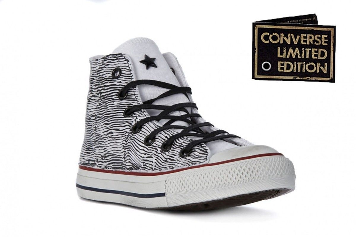 SCARPE UOMO CONVERSE ALL STAR HI LEATHER 155133C (44.5   OBSIDIAN)
