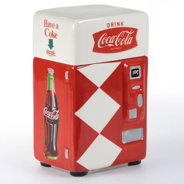Have a Coke Vending Machine Ceramic Canister