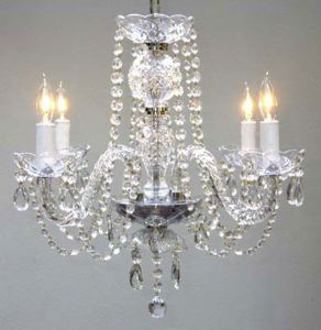 $88 Chandelier... Maybe for white on white room...