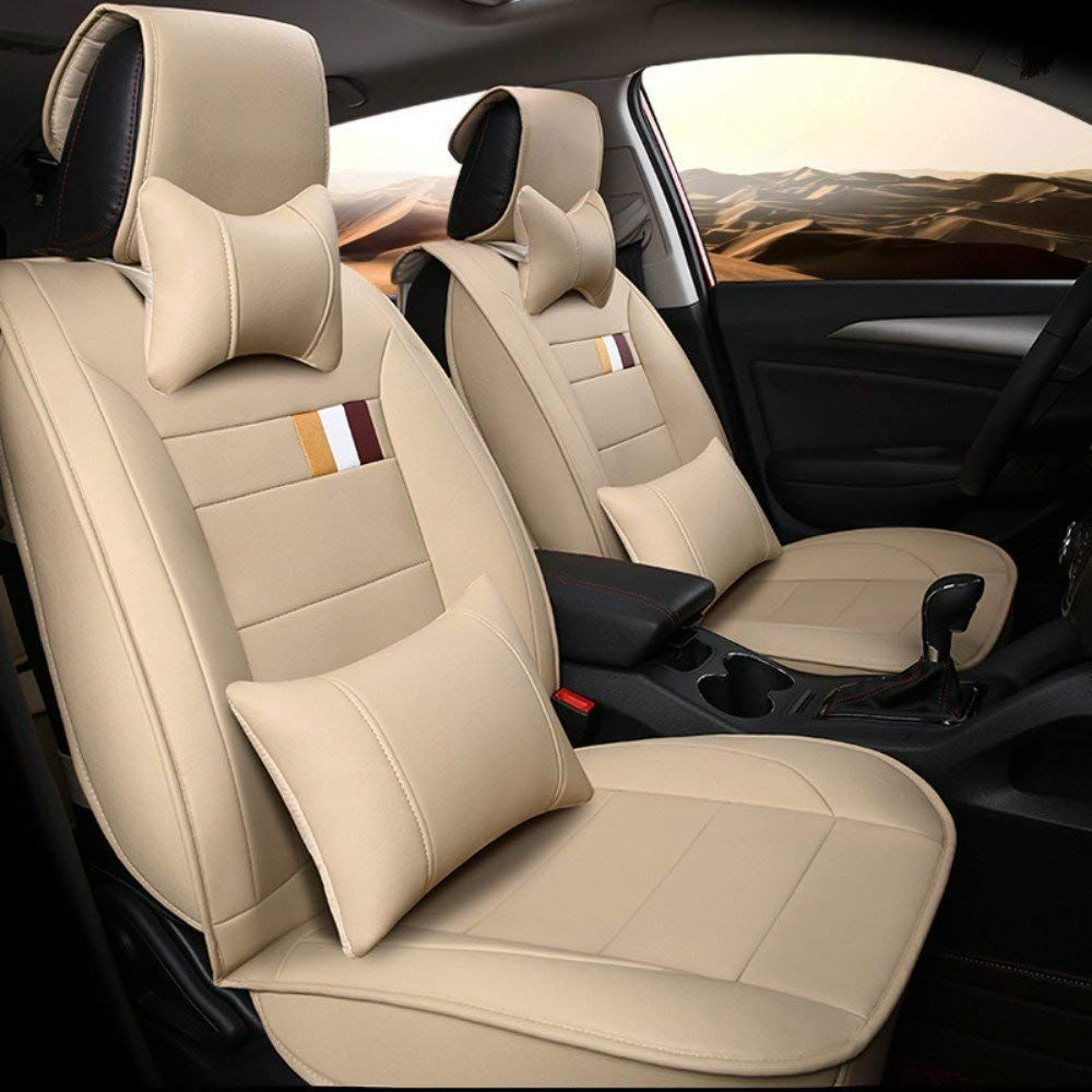 BEIGE LEATHER LOOK CAR SEAT COVERS FULL SET For CHEVROLET CRUZE 11-ON
