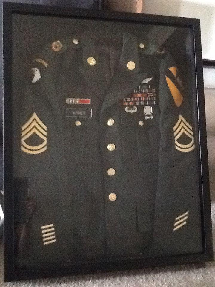 22/28 Shadow Box My Husbands old Army Class A\'s Staple Gun | Joey <3 ...