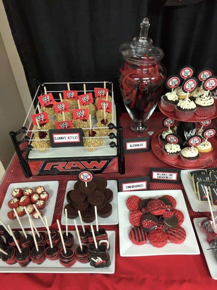 Wwe Birthday Party Ideas Caiden S Bday Party Pinterest Wwe