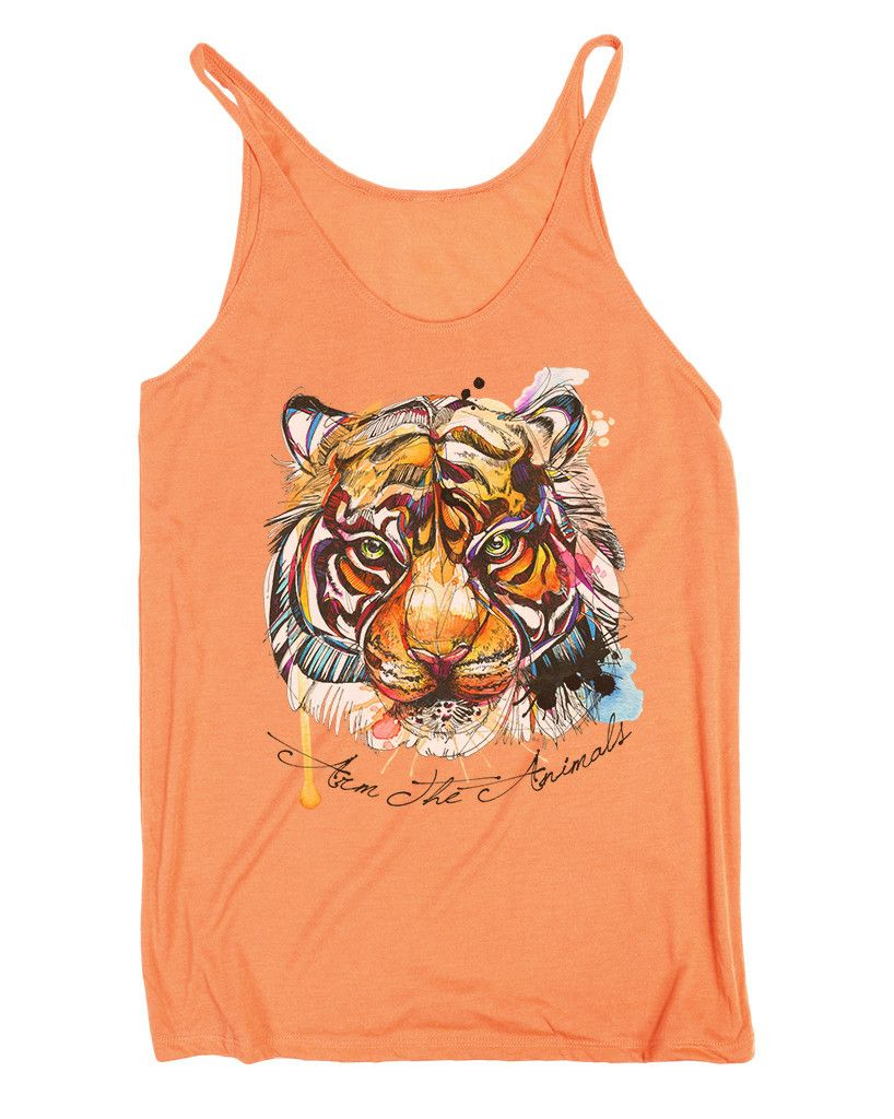 Brilliant Bengal slouchy tank-coral