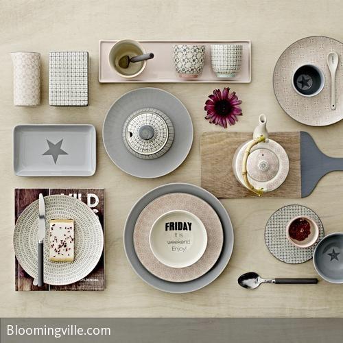 zauberhaftes geschirr von bloomingville geschirr. Black Bedroom Furniture Sets. Home Design Ideas