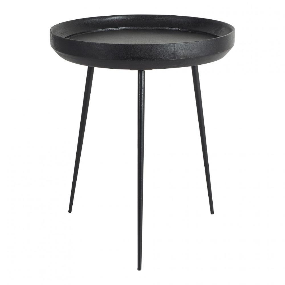 Luna Round Side Table Black 500x600mm Round Side Table Black Black Side Table Side Table [ png ]