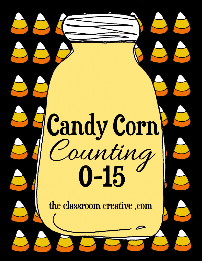 free candy corn counting halloween math centers for preschool kindergarten and special ed - Halloween Art For Kindergarten