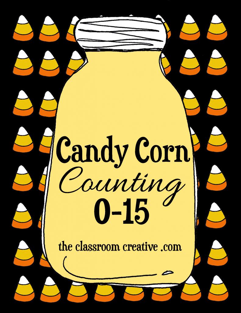 free candy corn counting halloween math centers for preschool kindergarten and special ed - Halloween Art For Kindergarten