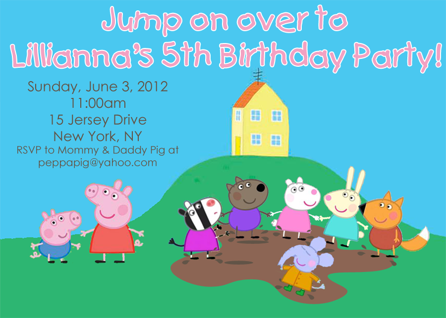 Peppa Pig Muddy Puddles Party Invitation - Jumping Jax Designs ...