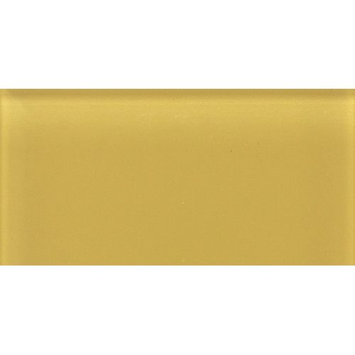 "Daltile Glass Reflections 4-1/4"" x 8-1/2"" Glossy Wall Tile in Honey Bee"