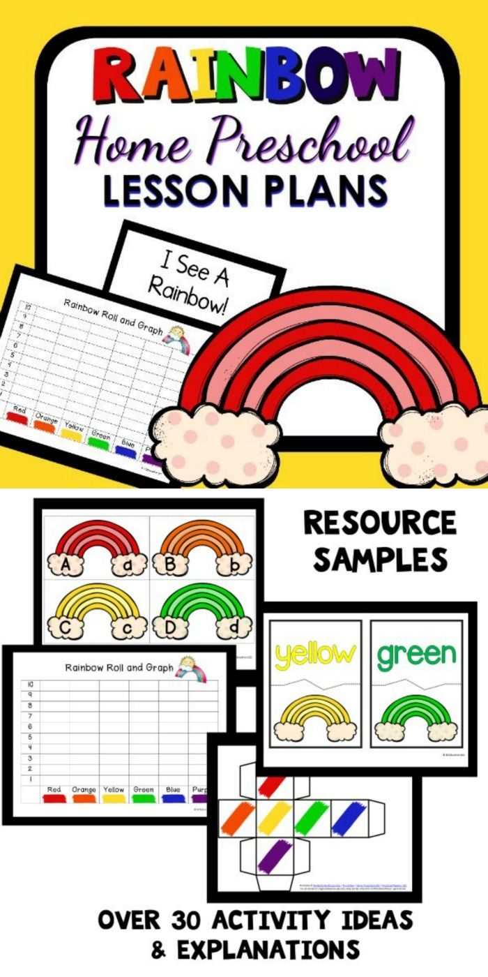 Rainbow Theme Home Preschool Lesson Plan | Rainbow theme, Rainbows ...