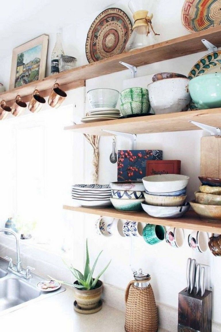 32+ Lovely Bohemian Kitchen Decor for Cozy Kitchen Inspiration #bohemianwohnen