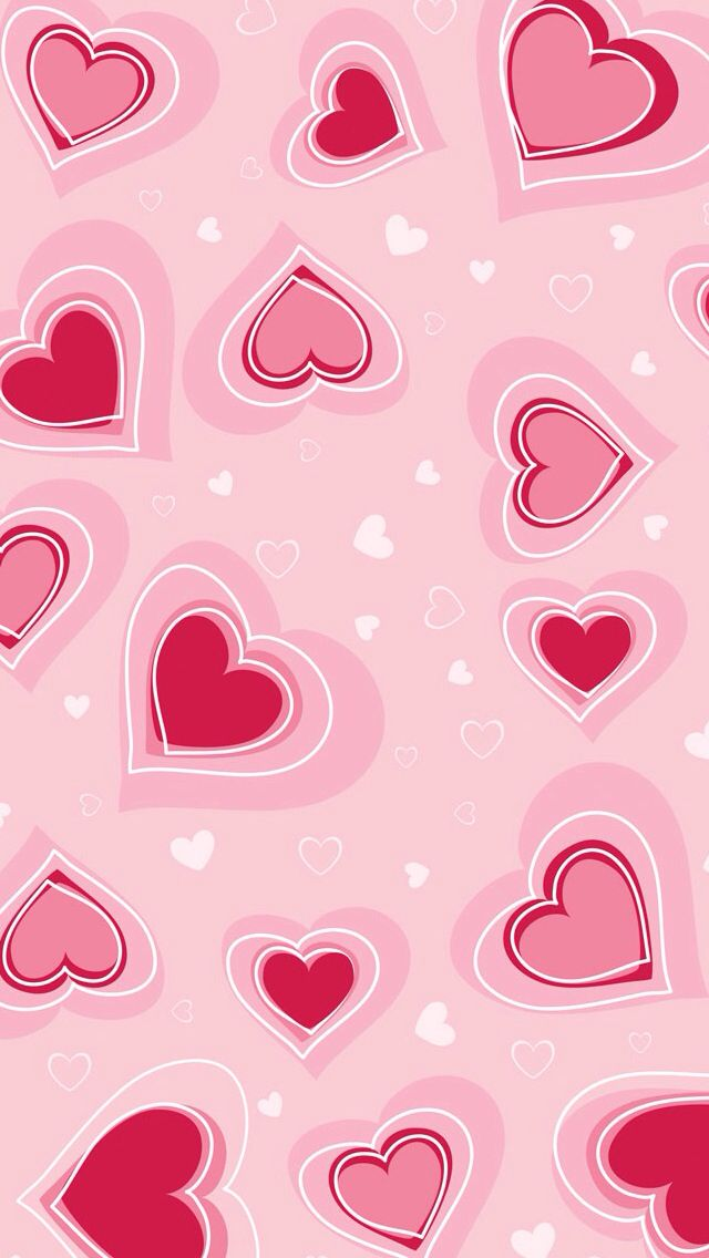 Wallpaper Pink Red Hearts Valentines Wallpaper Iphone