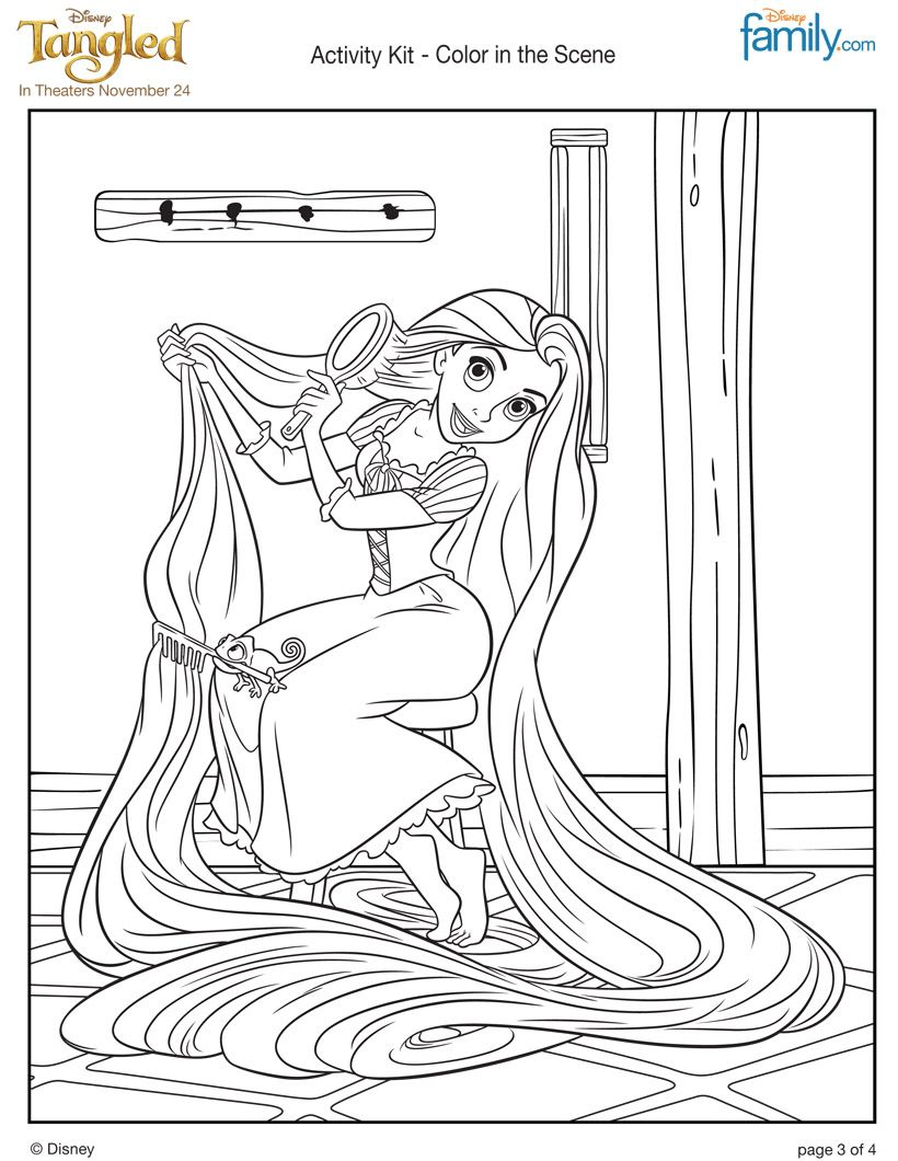 colouring games online play : Play Free Coloring Pages Online Rapunzel S Long Hair Coloring Page