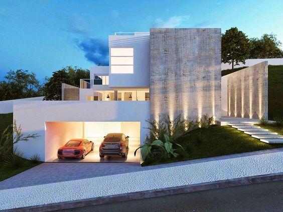 30 fachadas de casas modernas dos sonhos iluminacion for 30 fachadas de casas modernas dos sonhos