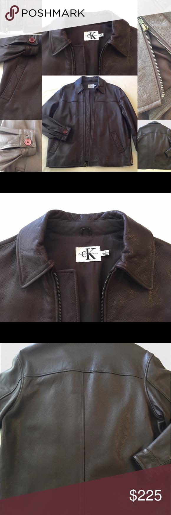 Calvin Klien Jacket Brown Leather Leather Jacket Real Leather Jacket Brown Leather Jacket [ 1740 x 580 Pixel ]