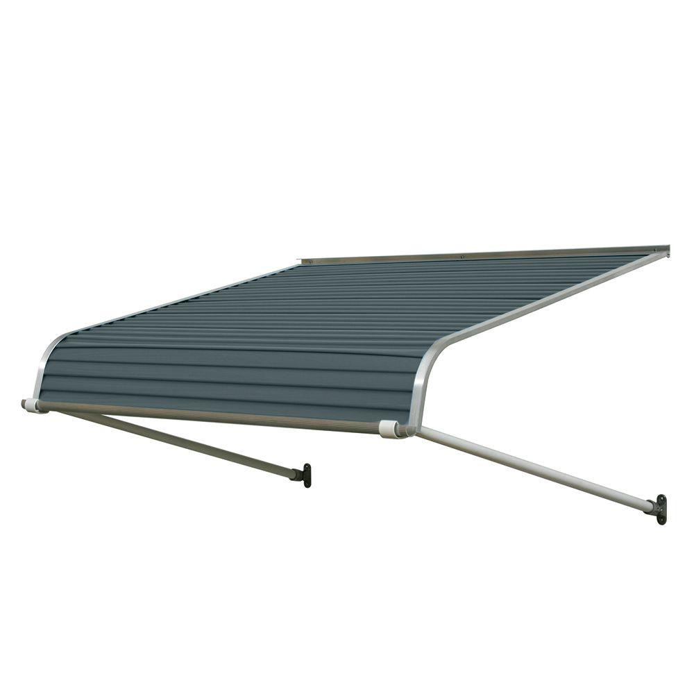 Nuimage Awnings 4 Ft 1100 Series Door Canopy Aluminum Awning 12 In H X 42 In D In Slate Blue K110704837 The Ho In 2020 Aluminum Awnings Metal Awning Door Canopy