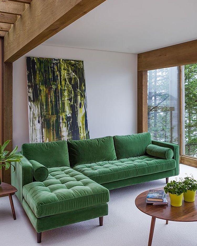 Sofá verde perfeito