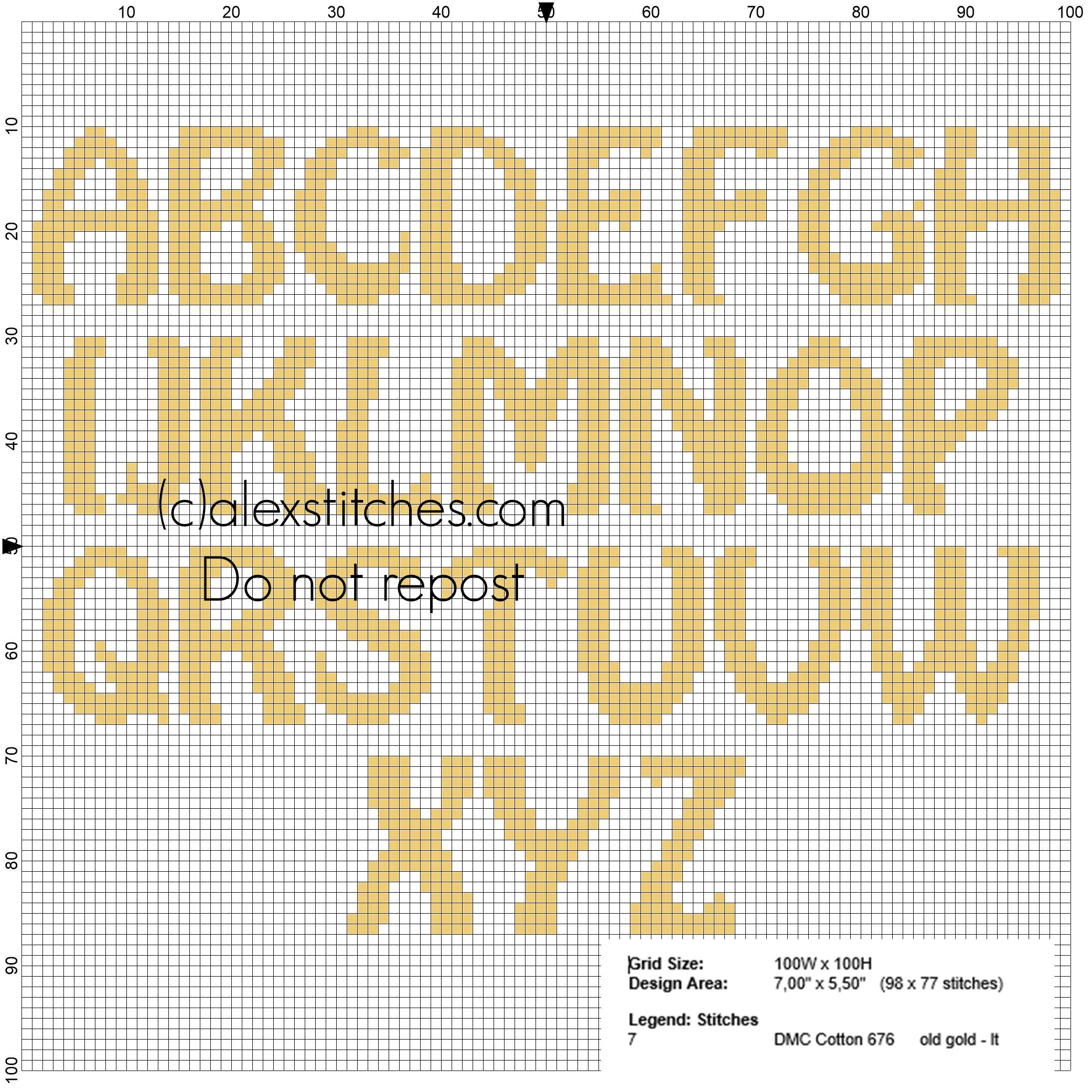 Uppercase Alphabet for cross stitch names with Minions
