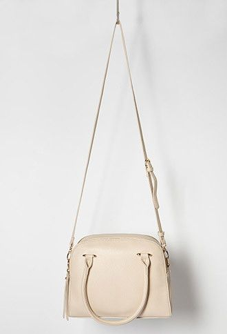 Double-Zip Faux Leather Satchel | Forever 21 | #f21accessorize