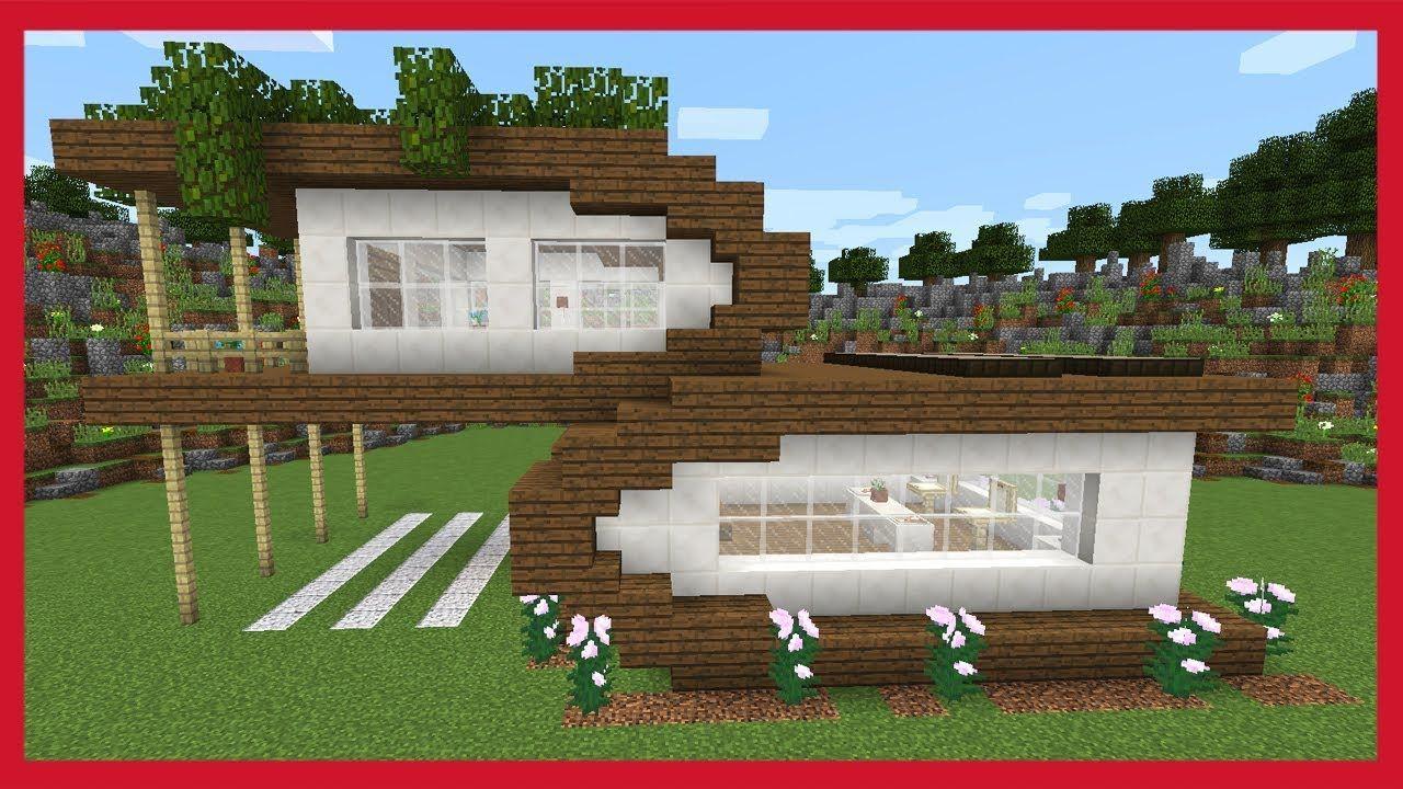 Modelli Di Case Da Costruire minecraft: come costruire una grande casa moderna - youtube