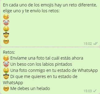 Cadenas De Retos Hot Para Whatsapp Juegos Para Whatsapp Retos W