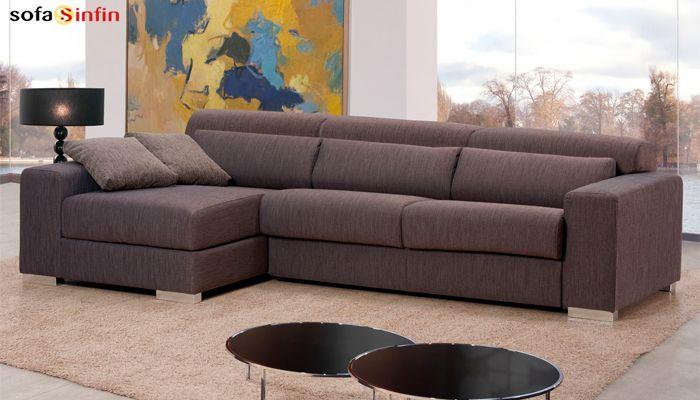 Sofá cama con chaise longue de Divani Star en Sofassinfin