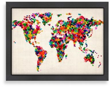 Americanflat world map heart wall art maps and globes pinterest americanflat world map heart wall art gumiabroncs Image collections